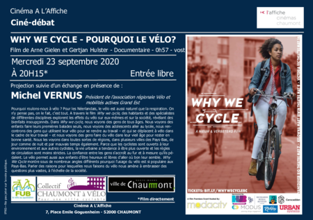 "Ciné-débat ""WHY WE CYCLE - POURQUOI LE VELO?"""