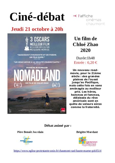 """Ciné-débat """"NOMADLAND"""""""