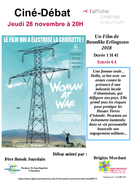 "Ciné-débat ""WOMAN AT WAR"""