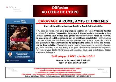 Diffusion AU COEUR DE L'EXPO : CARAVAGE