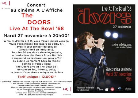 "Diffusion Concert ""The DOORS - LIVE AT THE BOWL '68"""