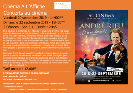 "Concert ""ANDRE RIEU : ET SI ON DANSAIT?"""