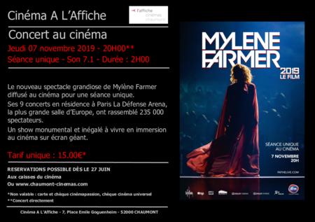 "Concert ""MYLENE FARMER 2019 LE FILM"""