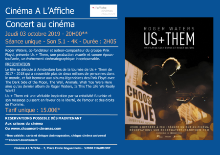 "Concert ""ROGER WATERS : US & THEM"""